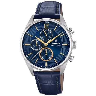FESTINA Blue Leather Chronograph F20286-3