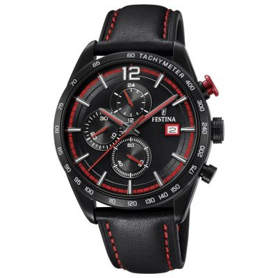 FESTINA Chronograph Black Leather strap F20344-5