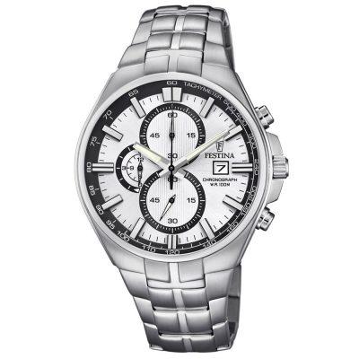 FESTINA Chronograph Silver Stainless Steel Bracelet F6862-1