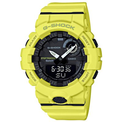 CASIO G-Shock Step Tracker Yellow Rubber Strap GBA-800-9AER