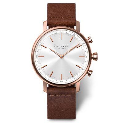 KRONABY Carat Brown Leather Strap A1000-1401