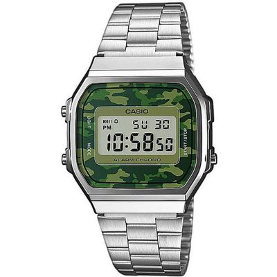 CASIO Collection Camouflage Stainless Steel Bracelet A-168WEC-3EF