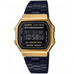 CASIO Collection Black Stainless Steel Braelet A-168WEGB-1BEF