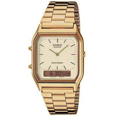 CASIO Collection Gold Stainless Steel Bracelet AQ-230GA-9DM