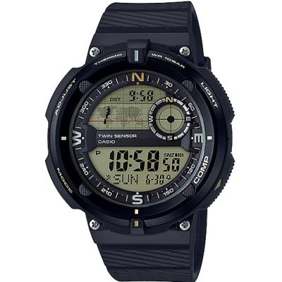 CASIO Collection Black Rubber Strap SGW-600H-9AER