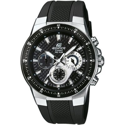 CASIO Edifice Chronograph Black Rubber Strap EF-552-1AV