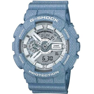 CASIO G-SHOCK Light Blue Rubber Strap GA-110DC-2A7ER
