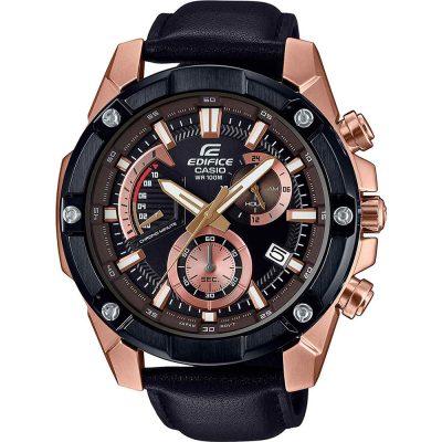 CASIO Edifice Chronograph Black Leather Strap EFR-559BGL-1AVUEF
