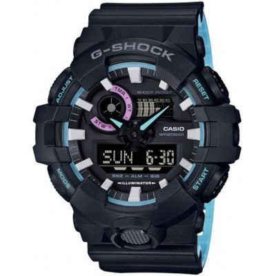 CASIO G-SHOCK Black Rubber Strap GA-700PC-1AER
