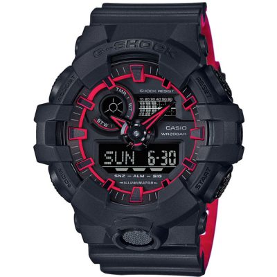 CASIO G-SHOCK Black Rubber Strap GA-700SE-1A4ER