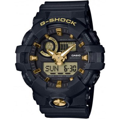 CASIO G-SHOCK Black Rubber Strap GA-710B-1A9ER