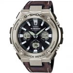 CASIO G-SHOCK Solar Brown Leather Strap GST-W130L-1AER