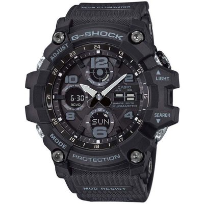 CASIO G-SHOCK Solar Mudmaster Tought Black Rubber Strap GWG-100-1AER