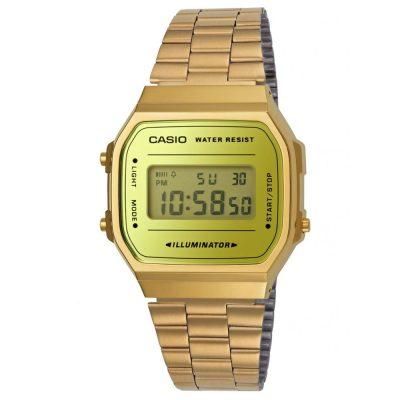 CASIO Collection Gold Stainless Steel A-168WEGM-9EF
