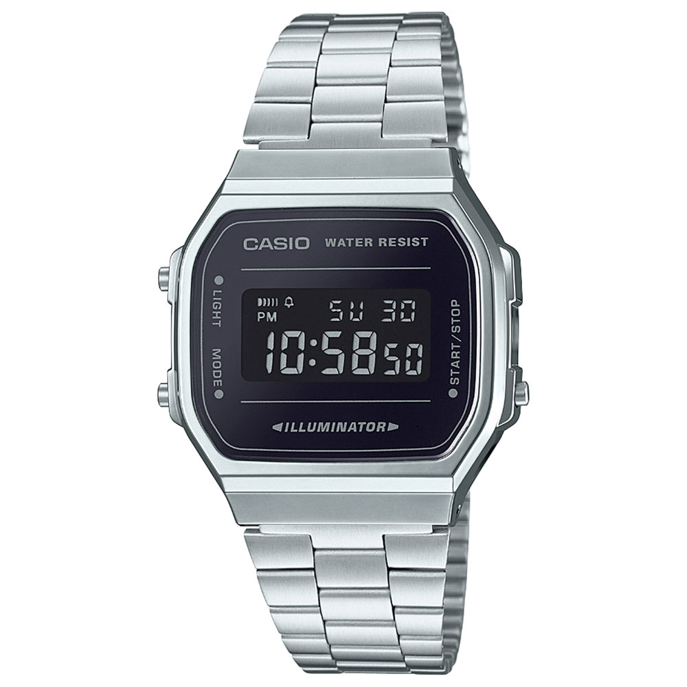CASIO Collection Stainless Steel Bracelet A-168WEM-1EF