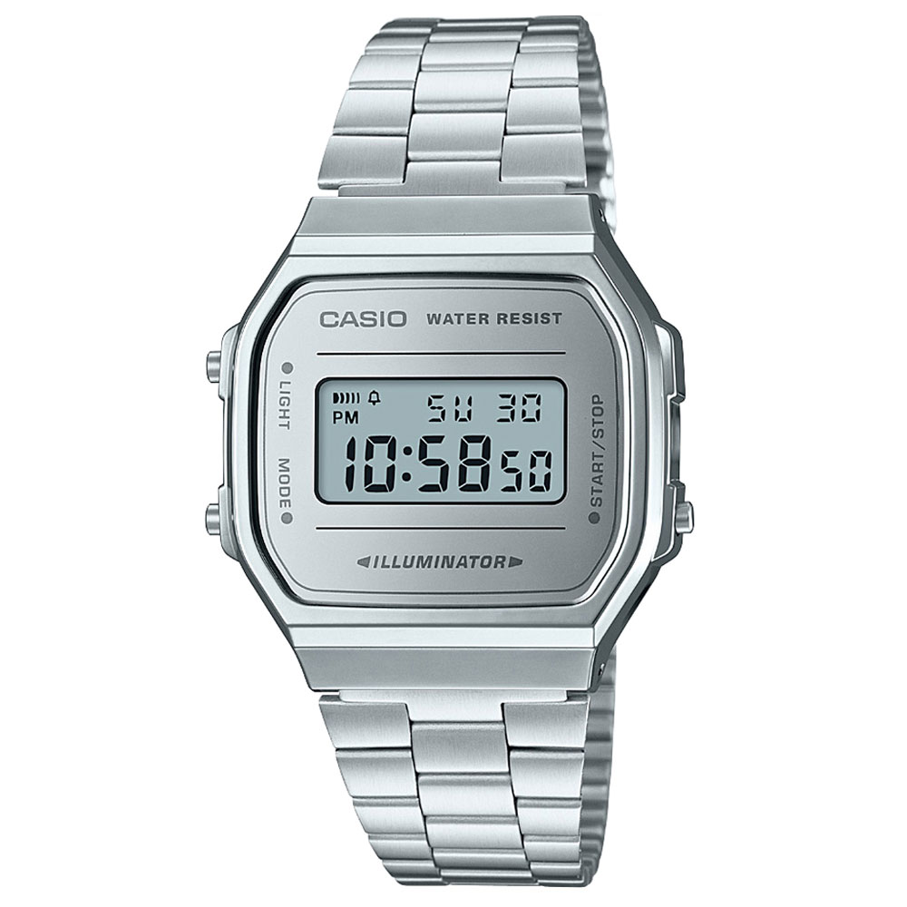 CASIO Collection Stainless Steel Bracelet A-168WEM-7EF  cb9851beadb