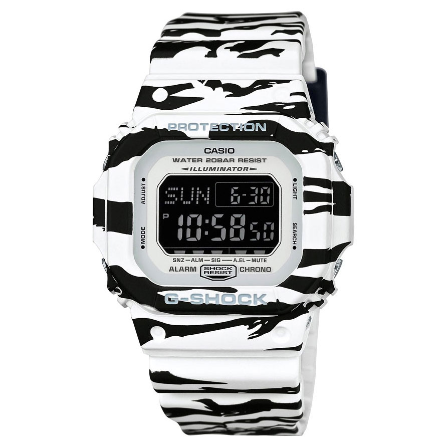 CASIO G-SHOCK White Rubber Strap DW-D5600BW-7ER