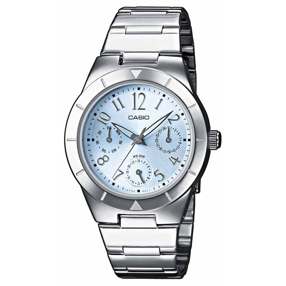 CASIO Collection Silver Stainless Steel Bracelet LTP-2069D-2A2VEF