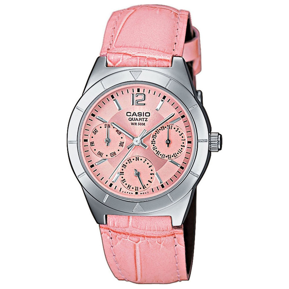 CASIO Collection Pink Leaher LTP-2069L-4AVEF