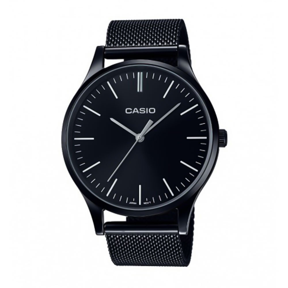 CASIO Collection Black Stainless Steel Bracelet LTP-E140B-1AEF