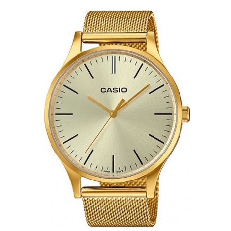 CASIO Collection Gold Stainless Steel Bracelet LTP-E140G-9AEF