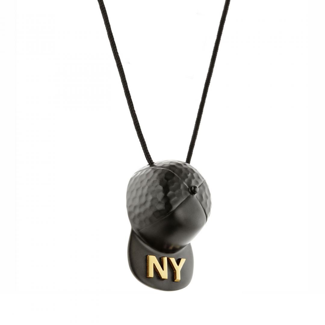 HONOR Κολιέ από Ορείχαλκο New York Black Hat BP150