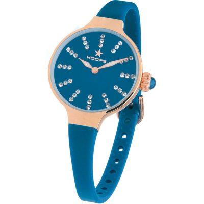 HOOPS Nouveau Cherie Diamond Crystals Blue Rubber Strap 2594LRG03