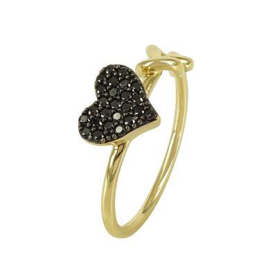 Kίτρινο Χρυσό Μοντέρνο Δαχτυλίδι Καρδιά Κ14 DX93005