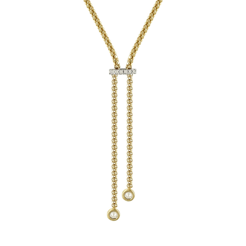Kίτρινο Χρυσό Κολιέ Με Πέτρες Κ14 KL94935