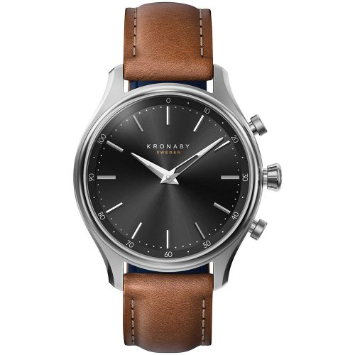 KRONABY Smart-Watch Brown Leather Strap A1000-2749