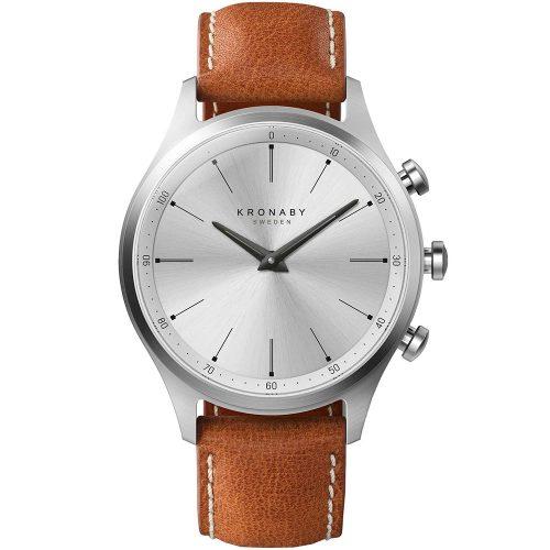 KRONABY Smart-Watch Sekel Brown Leather Strap A1000-3125