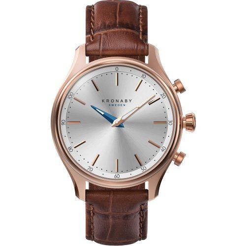 KRONABY Smart-Watch Sekel Brown Leather Strap A1000-2748