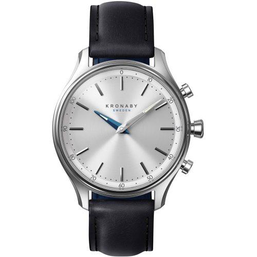 KRONABY Smart-Watch Sekel Black Leather Strap A1000-0657