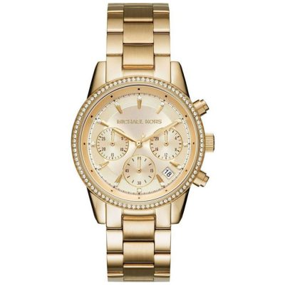 MICHAEL KORS Ritz Chronograph Gold Stainless Steel Bracelet MK6356