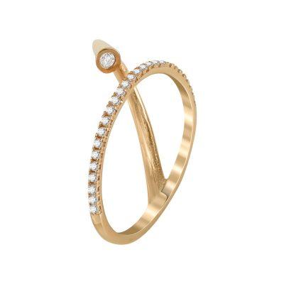 Ροζ Χρυσό Μοντέρνο Δαχτυλίδι Κ14 DX91905