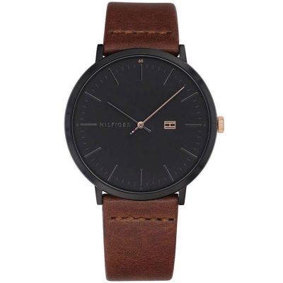 TOMMY HILFIGER James Brown Leather Strap 1791461