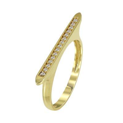 Kίτρινο Χρυσό Μοντέρνο Δαχτυλίδι Κ14 DX90461