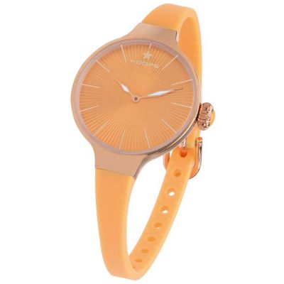 HOOPS Nouveau Cherie Rose Gold Orange Rubber Strap 2583LRG06