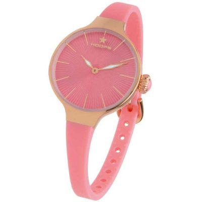 HOOPS Nouveau Cherie Rose Gold Pink Rubber Strap 2583LRG07