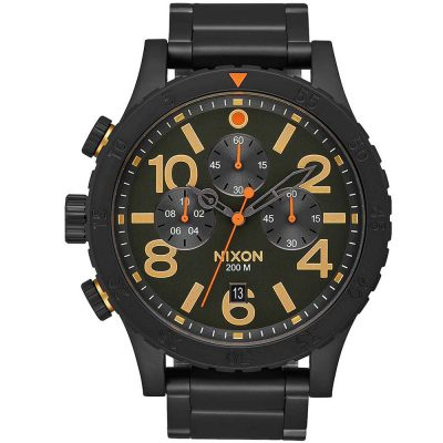 NIXON 48-20 Black Stainless Steel Bracelet A486-1032