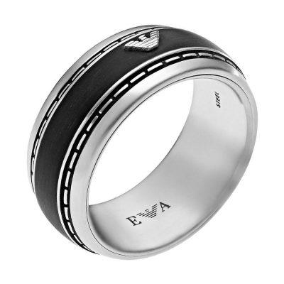 EMPORIO ARMANI Αντρικό Δαχτυλίδι Από Ατσάλι EGS1924040512