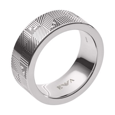 EMPORIO ARMANI Αντρικό Δαχτυλίδι Από Ατσάλι EGS2508040515
