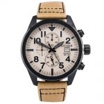CITIZEN Chronograph Beige Leather Strap AN3625-07X