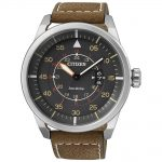 CITIZEN Eco-Drive Brown Leather Strap AW1360-12H