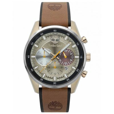 TIMBERLAND Chauncey Multifunction Brown Leather Strap 15417JSKS-07