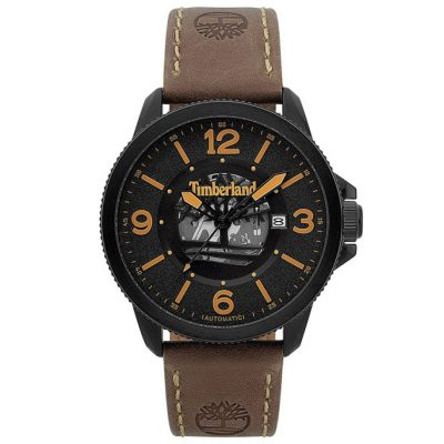TIMBERLAND Biddeford Automatic Brown Leather Strap 15421JSB-02