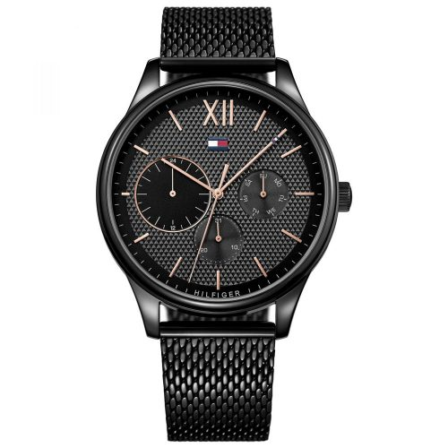 Tommy HILFIGER Damon Black Stainless Steel Bracelet 1791420