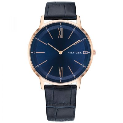 Tommy HILFIGER Cooper Blue Leather Strap 1791515