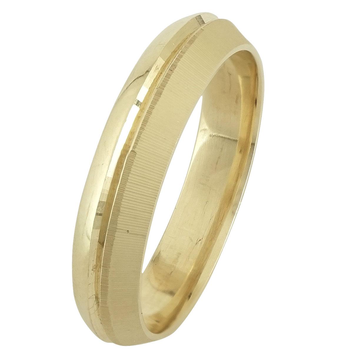 Ασημένια Βέρα Γάμου Κίτρινη Επιχρυσωμένη WRS246