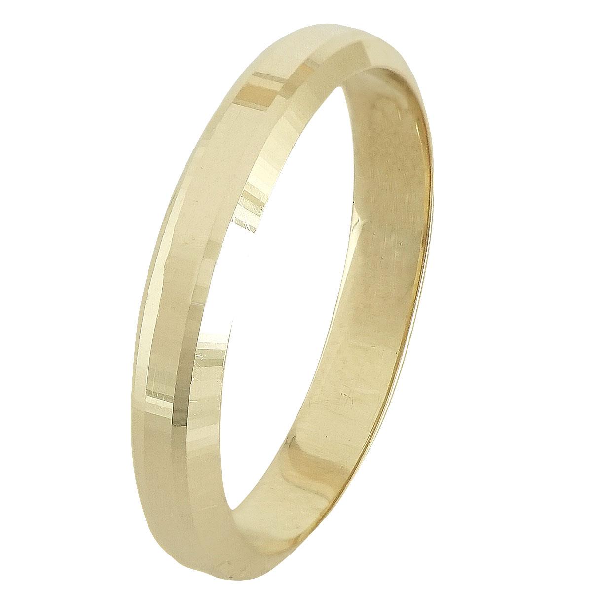 Ασημένια Βέρα Γάμου Κίτρινη Επιχρυσωμένη WRS245